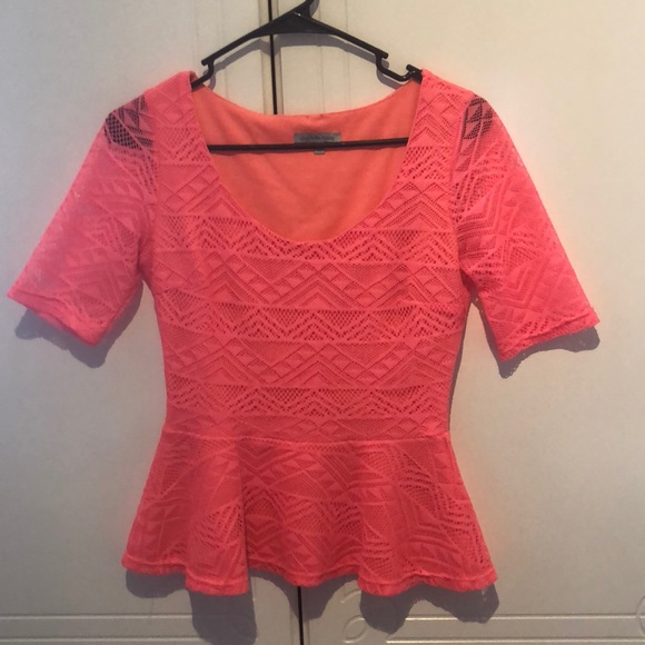 Charlotte Russe Tops - Coral Charlotte Russe Shirt